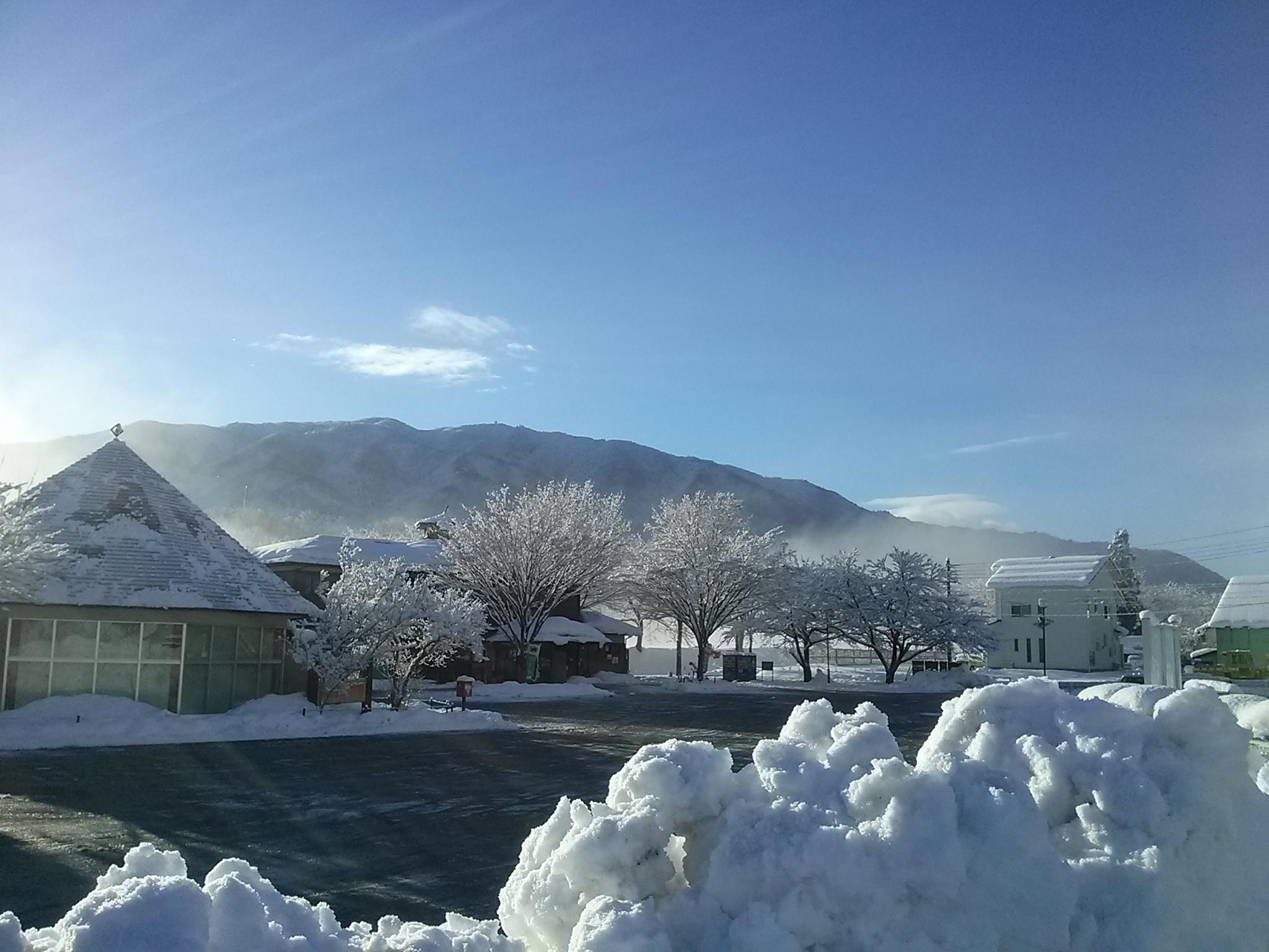 道の駅くつき新本陣冬の風景
