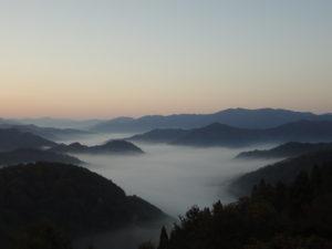 雲海スポット「小入峠」